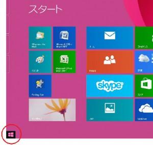 Windows8.1スタートボタン